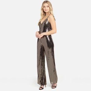 bebe ~ Sequin Cown Back Jumpsuit